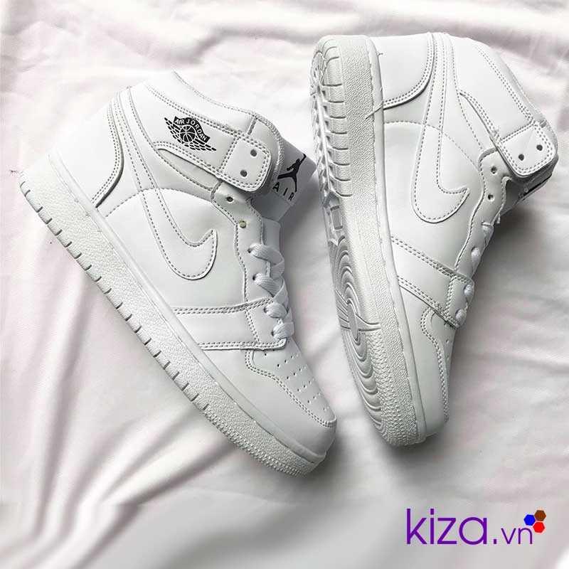 giày nike jordan 1 màu trắng 2018
