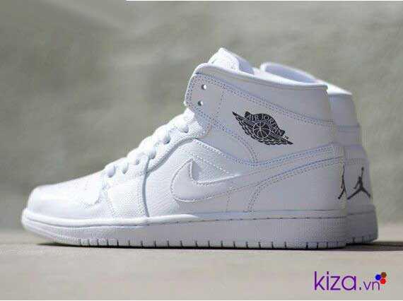 giày nike jordan 1 màu trắng 2018 33