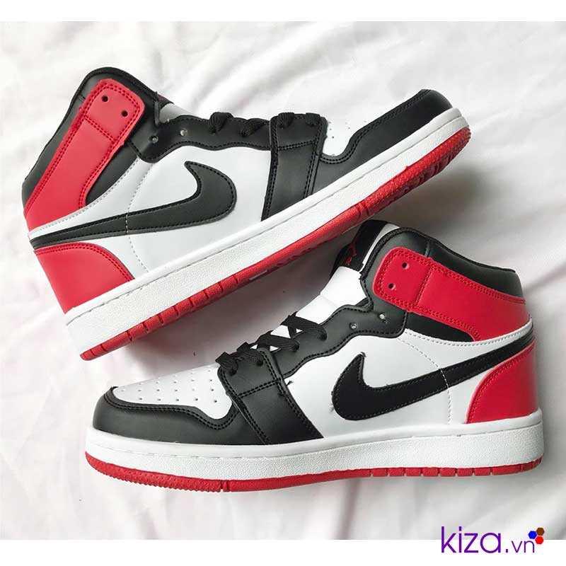 giày nike jordan màu trấng đỏ giá rẻ đẹp 001