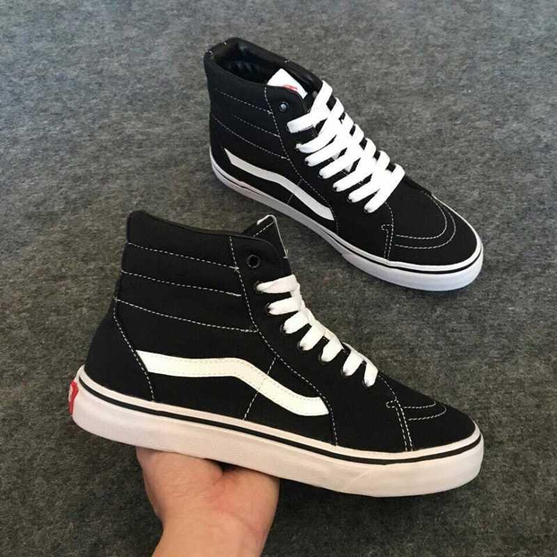 Giày Vans Old Skool phối màu đen trắng 5 cao co