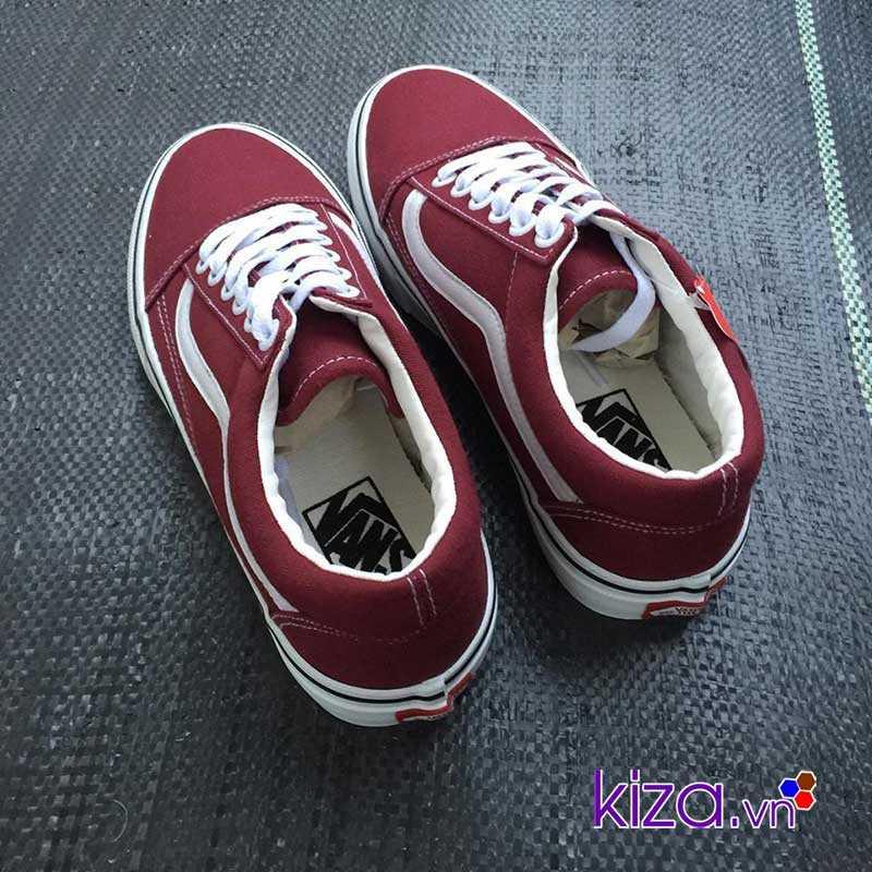 Giày Vans Old Skool màu đỏ mận đẹp 003