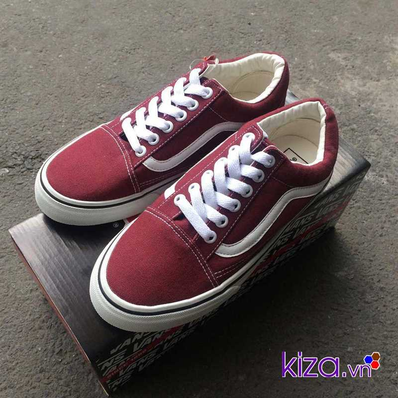 Giày Vans Old Skool màu đỏ mận đẹp 004