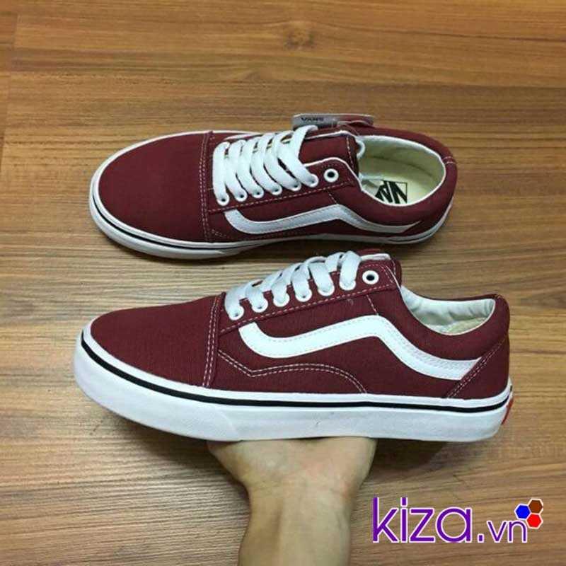 Giày Vans Old Skool màu đỏ mận đẹp 00 2