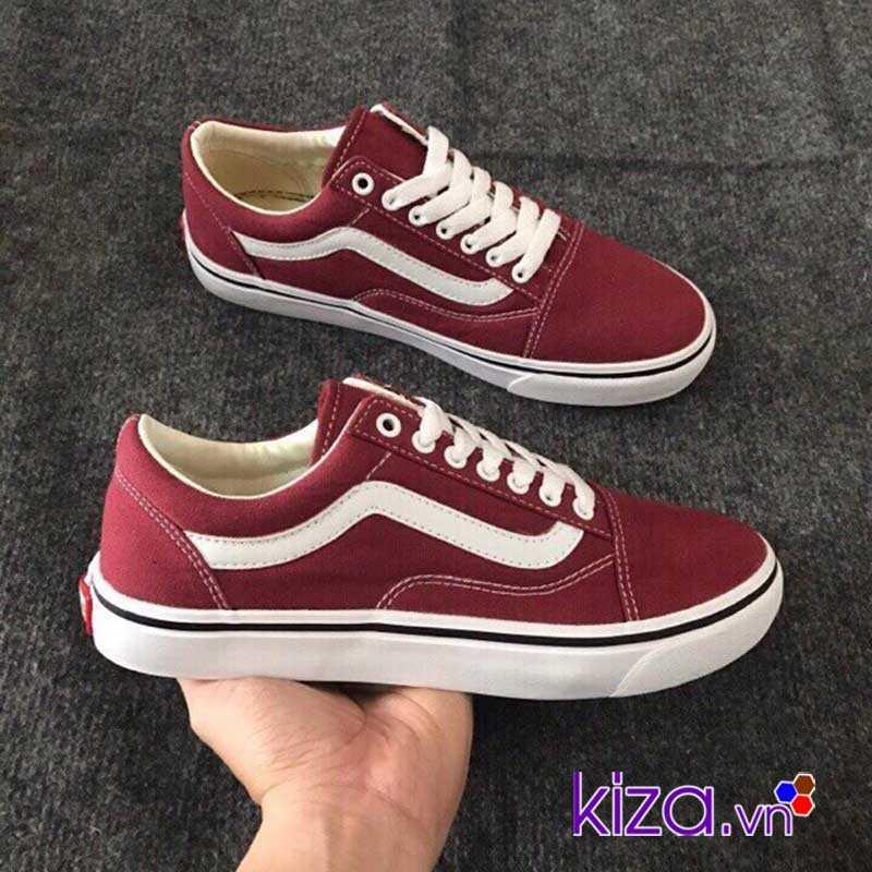 Giày Vans Old Skool màu đỏ mận đẹp 005