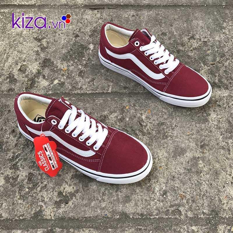 Giày Vans Old Skool màu đỏ mận đẹp 001