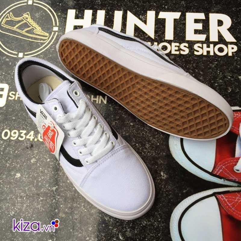 giày vans old skool màu trắng sọc đen đẹp 001