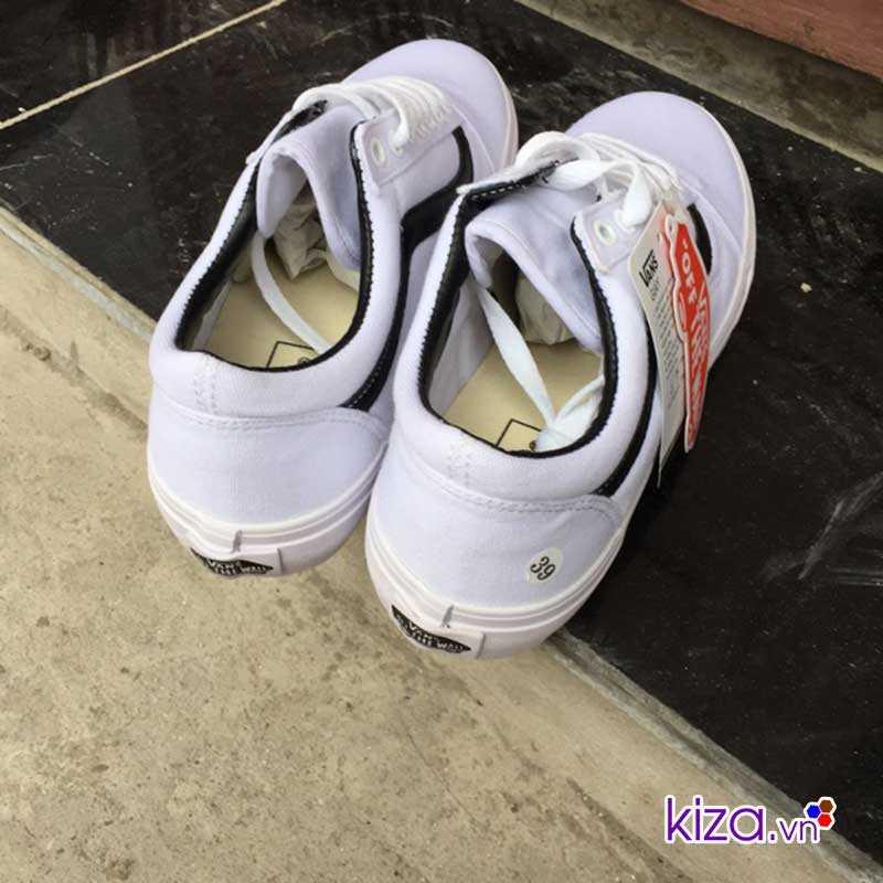 giày vans old skool màu trắng sọc đen đẹp 002