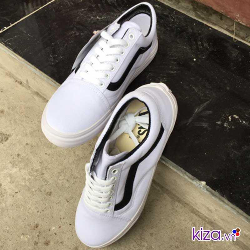 giày vans old skool màu trắng sọc đen đẹp 004