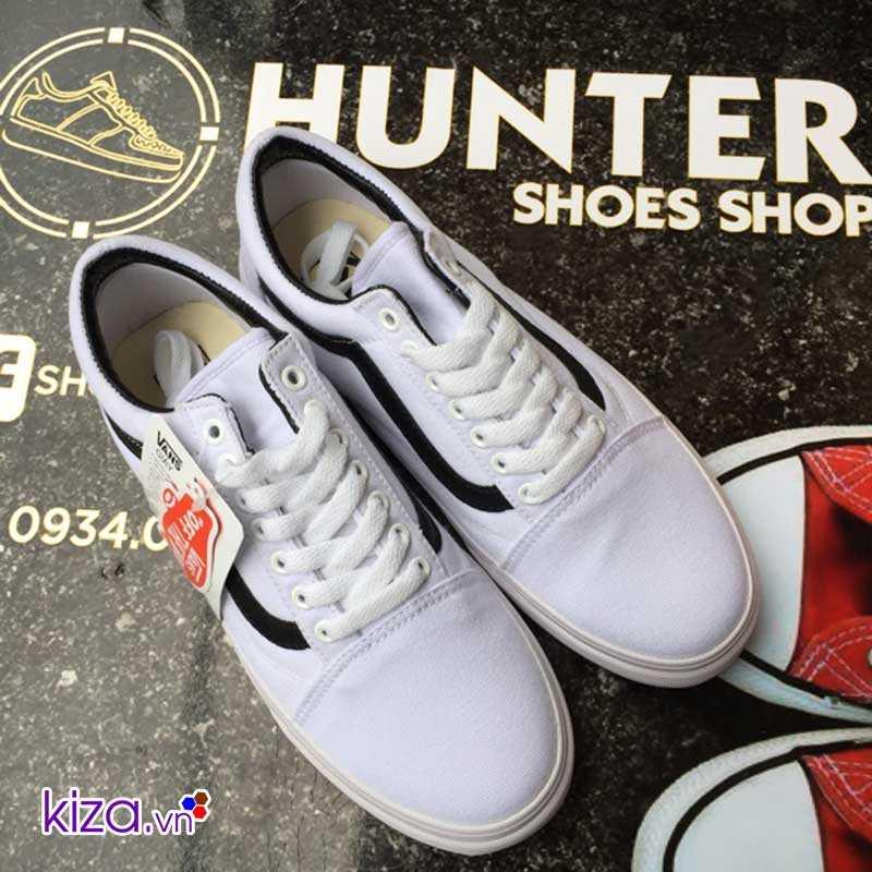 giày vans old skool màu trắng sọc đen đẹp 003